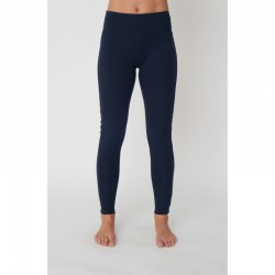 Flow with it Leggings Navy, Ocean Piping