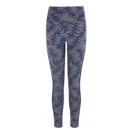 Flow with it Leggings Bamboo Print, Navy Piping