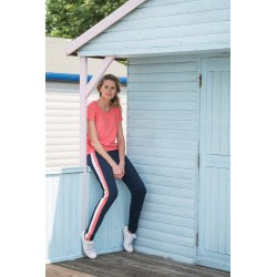 Divine Pants - Navy Ivory Coral