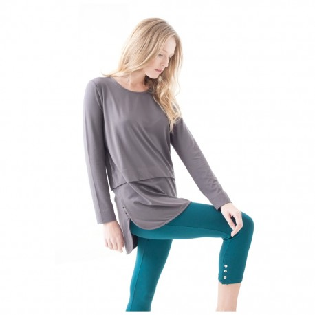 Bamboo Tiered Long Sleeve Top Asquith