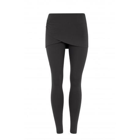 Mandala Wrap Skirt Pant Black