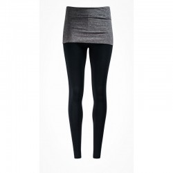 Smooth You Leggings Asquith Jet Black with Charcoal Marl Skirt